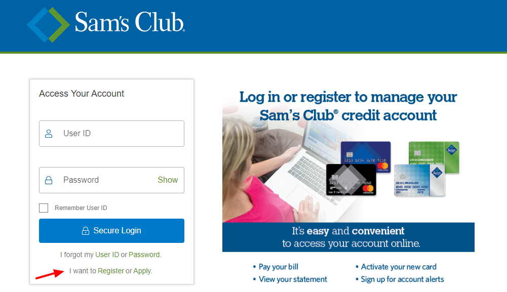 Sam Club Credit Card Register