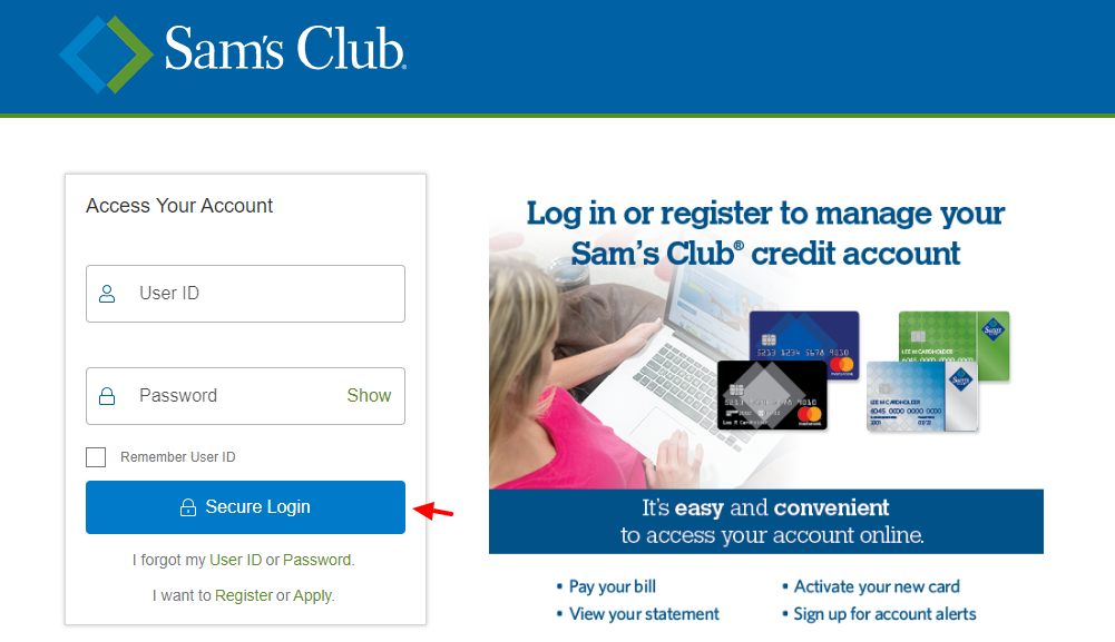 Sams Credit Card Login