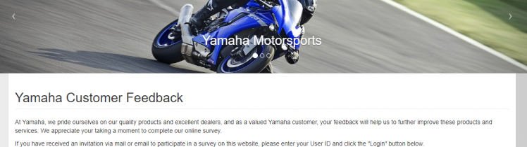 Yamaha Customer Feedback Survey