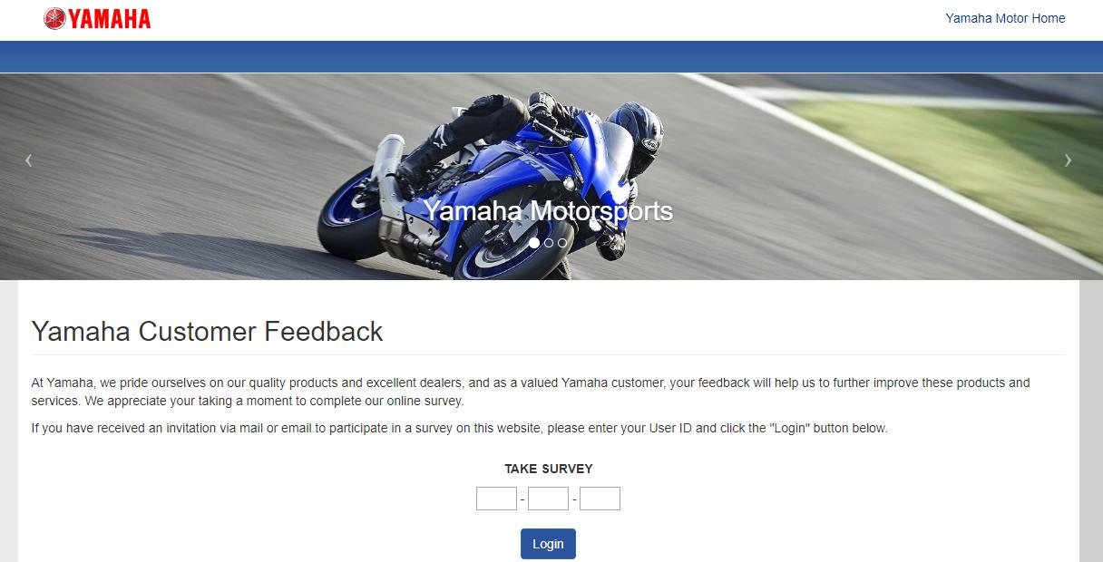 Yamaha Customer Feedback Survey