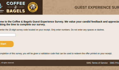 Coffee Bagels Guest Survey