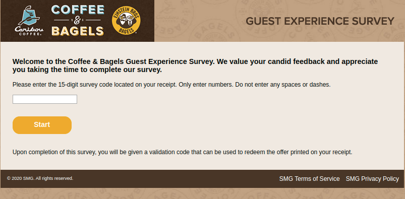 Coffee Bagels Guest Survey