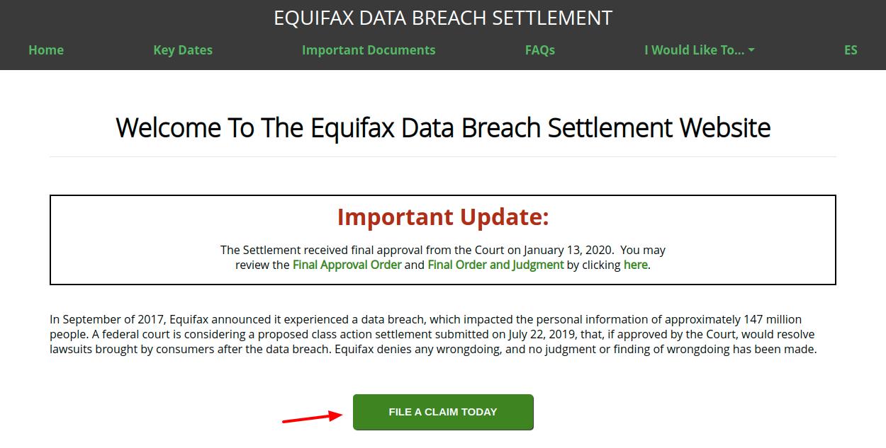 Equifax Data Breach Settlement File a Claim