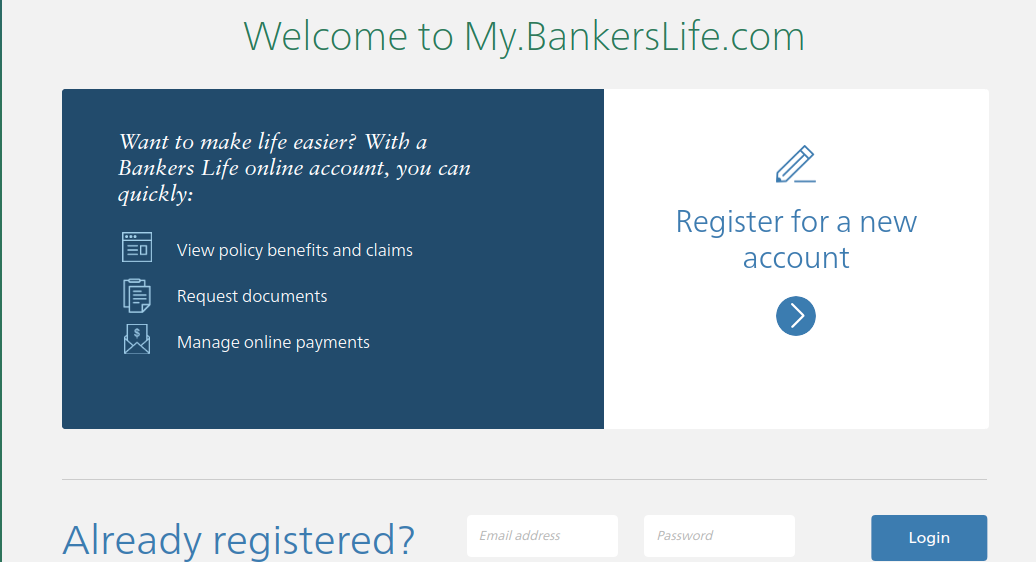 mybankerslife  access to bankers life account
