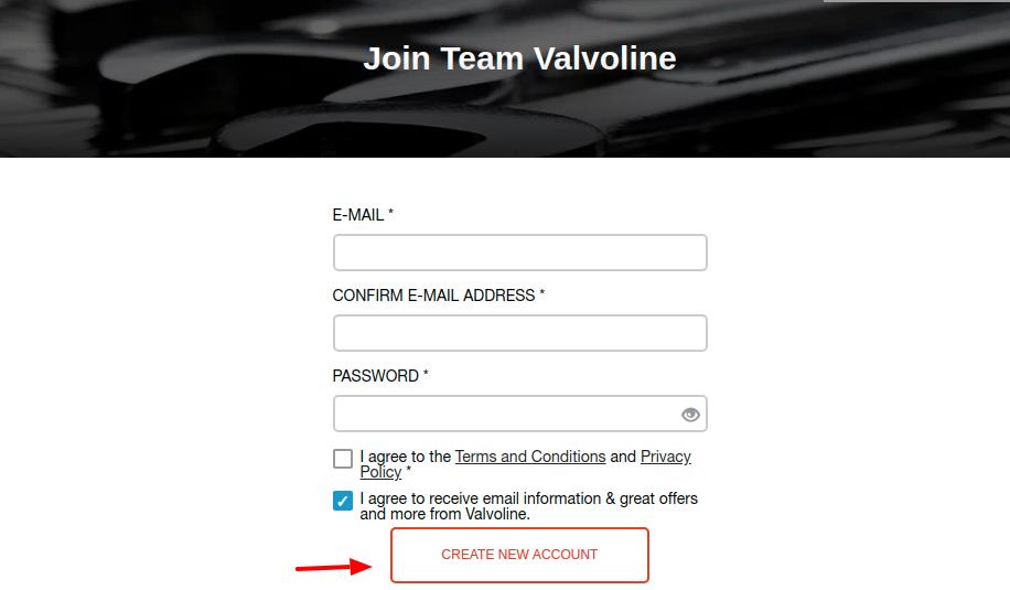 Team Valvoline Register