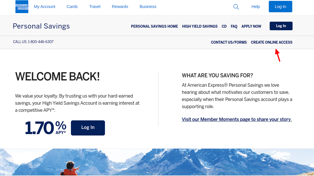 American Express National Bank Create Online Access