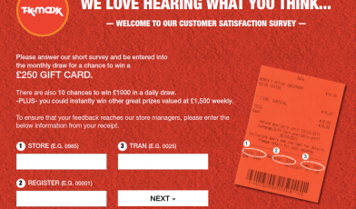 TK Maxx Survey