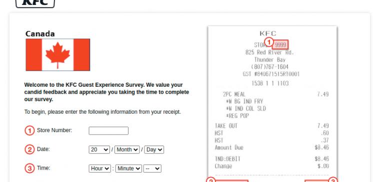 KFC Canada Guest Survey Logo