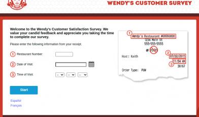 Wendys Customer Survey Logo