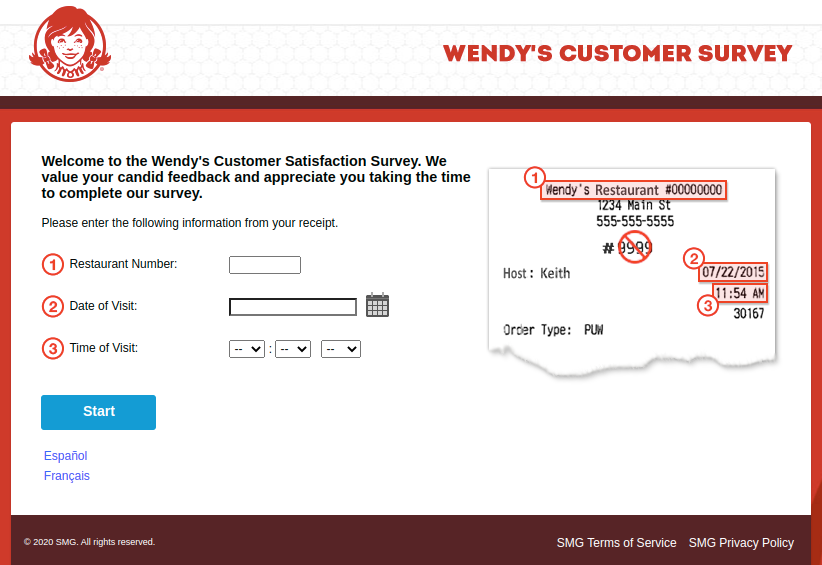 Wendys Customer Survey