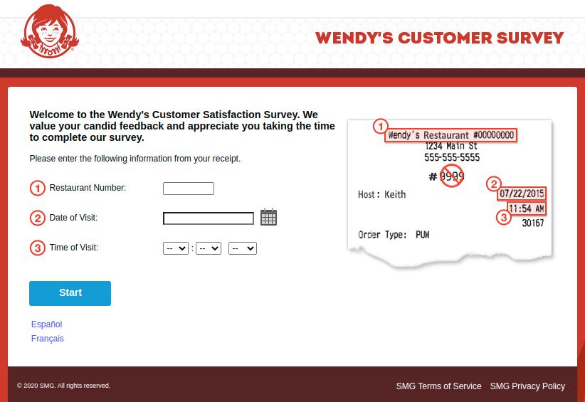 Wendys Customer Survey