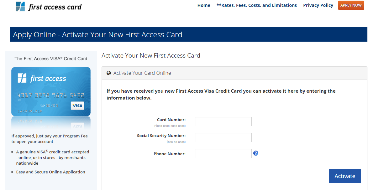 First Access Card Activate