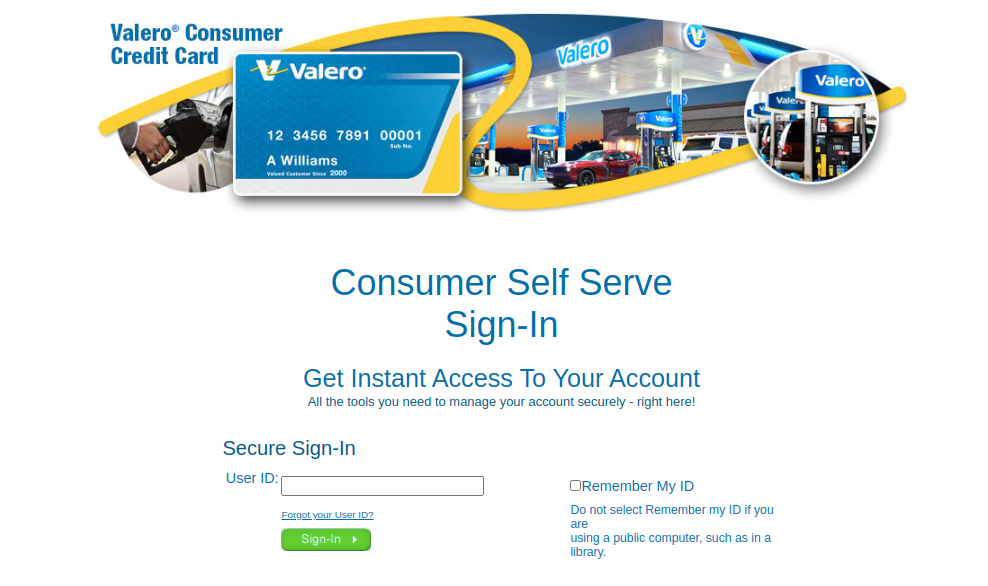 Valero Card Login