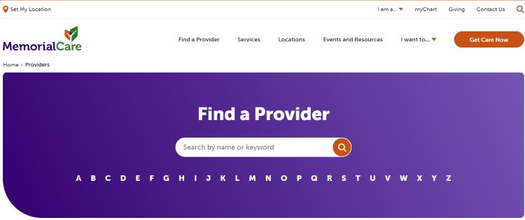 MemorialCare provider login