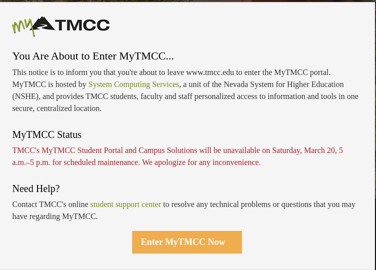 MyTMCC Login