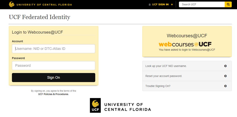 webcourses ucf login