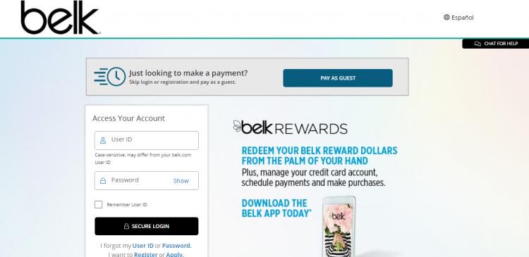belk credit card