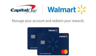 walmart capital one credit card login